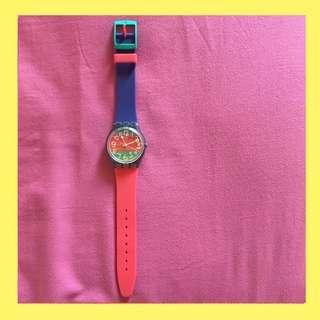 Preloved Jam Tangan Swatch Rainbow Original