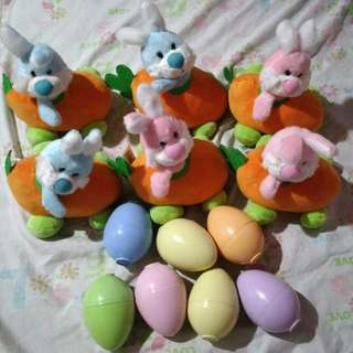 Rabbit Stufftoys with FREE eggs!