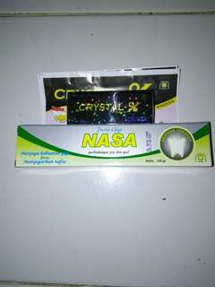 Cristal x nasa original free pasta gigi nasa