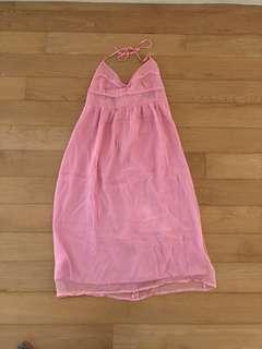 Huong Silk Chiffon Empire Halterneck Dress