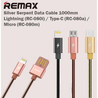 REMAX Serpent Armour Charging & Data Cable