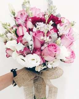 Designer classic romance bridal bouquet WD135