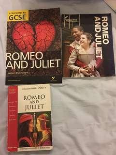 Romeo & Juliet book + guidebooks for igcse o level gcse