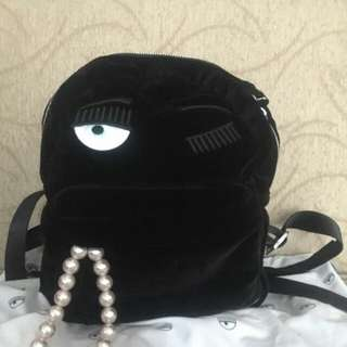 Tas ransel chiara ferragni flirting backpack black preloved