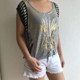 Egyptian Print Gold/Grey Shirt