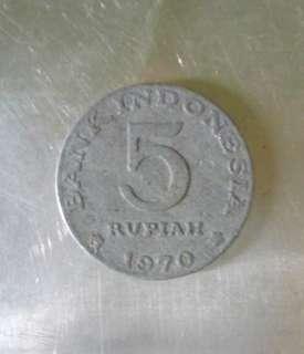 Koin 5 Rupiah Tahun 1970