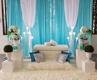 Mini Dais / Pelamin / Engagement Decor - Tiffany Blue