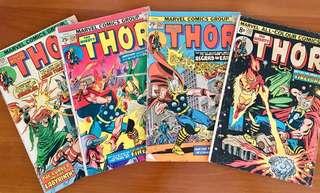 Thor series #232-235; 245-247 (7 comics!)