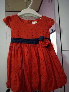 Dress red baloon