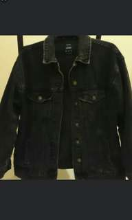 Bershka Black Denim Jacket