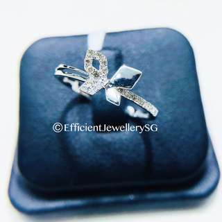 18K 750 White Gold Dia-Butterfly Diamond Ring
