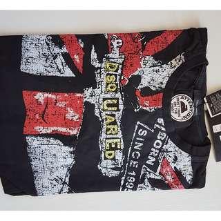 Retro Dsquared2, D2, Iconic, Stylish, Fashion, Rare Dsquared2 Designer Shirt, Black Colour, Made in ITALY, For Rock Star