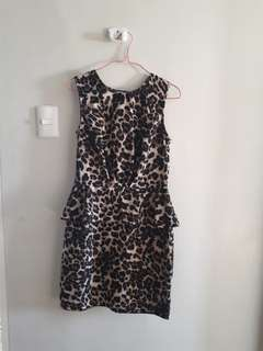 Atmosphere animal print dress UK 10 (medium) almost new