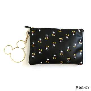 Japan Disney Accommode Mickey Mouse Black Ring Pouch