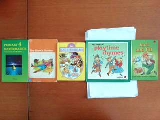 Mixed and used children's books.