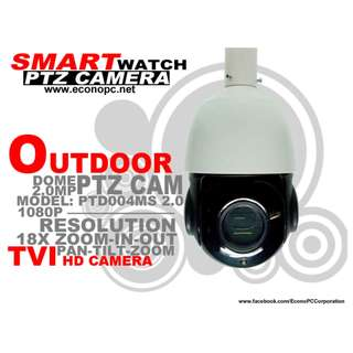CCTV PTZ TVI Camera for Outdoor with 18x Zooming Capacity