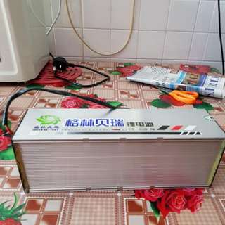 E Bike Battery Green Colour 48 Volt With Charger