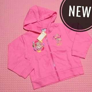 Jaket hoodie bayi pink