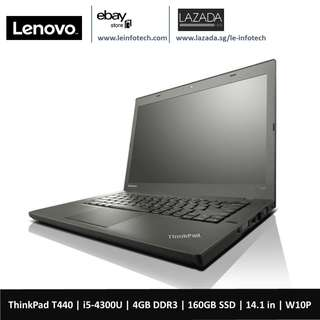 🚚 Lenovo ThinkPad T440 ultrabook i5-4300U #1.9Ghz 4th Gen processor 4GB DDR3 160GB SSD Windows 10 Pro 64Bits Intel HD Graphics 4000 30 days warranty