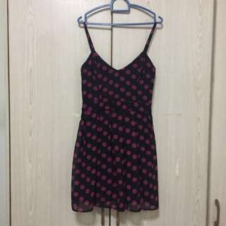 Price Reduced RM35!! Topshop Dress Up Polka Dots Uk6