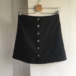 Black Button Down Skirt