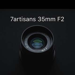 7artisans 35mm F2 for (emount for fullframe)Ef-m ,fuji, m4/3