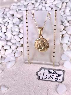 18k Mama Mary Gold Necklace