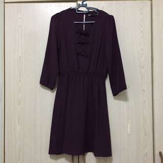 Dotti Dark Purple Dress Uk6