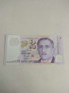 $2 new note 5555