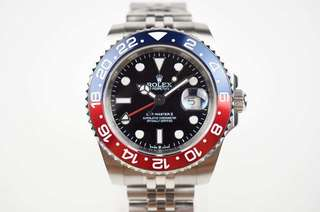 "Rolex GMT Master II 116719 BLRO ""Pepsi"" Stainless Steel Case Black Dial on Jubilee Stainless Steel Bracelet A2836 ✅Swiss Grade"