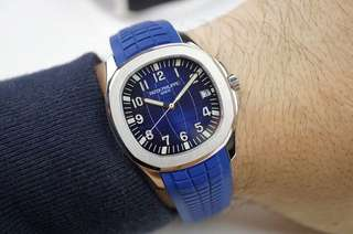 Patek Philippe Aquanaut Jumbo 5168G-001 Stainless Steel 20th Anniversary Blue Dial
