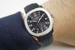 Patek Philippe Aquanaut Jumbo 5167A-001 Stainless Steel 1:1 Best Edition Black/Grey/Blue Textured Dial on Black Rubber Strap A.324 Clone ✅Swiss Grade