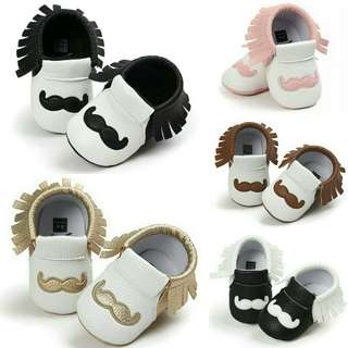 🍀Baby Boy Girl Moccasins Non-slip Soft Sole PU Leather Shoes🍀