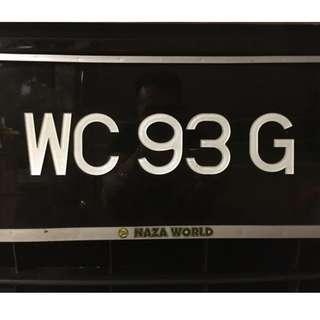 Registered Car Number