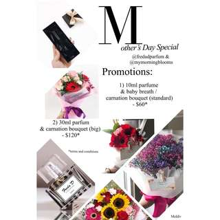Mother's Day Special (flowers x parfum)