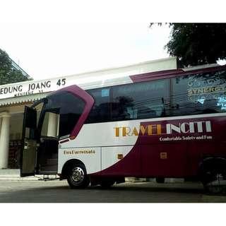 Sewa mobil wisata murah di Jakarta, Medium Bus (27-32 seat) hanya 1,8 Juta + driver + BBM.