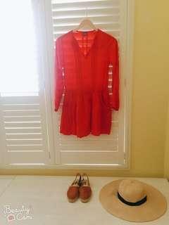 🚚 Zara Girl 波西米亞風 棉麻洋裝 雙邊有口袋 11-12y 152cm
