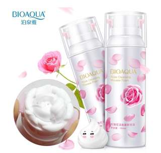 BIOAQUA Rose Cleansing Mousse Foam