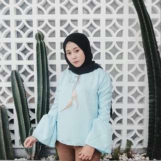 atasan blouse bell hijab