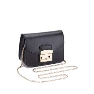 Furla Women's Metropolis Mini Cross Body Bag - Black
