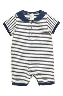 Size 4-6 mo. H&M Striped Navy Sailor Onesie