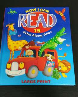 (New)NOW I CAN READ: 15 DRIVE ALONG TALES (LARGE PRINT)英文圖書 兒童繪本