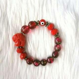 Red Elephant Bracelet