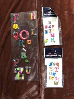 Alphabet Puff Stickers