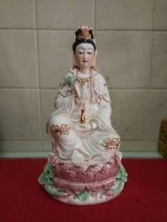 观音菩萨,德化名瓷(老货)高30cm