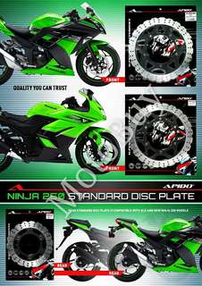 KAWASAKI NINJA 250 HEAVY DUTY FRONT/REAR DISC PLATE ( APIDO RACING)