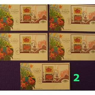 Ref 2     Zodiac Ox 1997  (Set of Five $10)