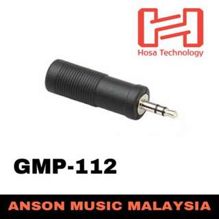 Hosa GMP-112 Adaptor 1/4'' TRS to 3.5mm TRS