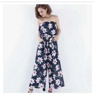 🆕東京著衣-夏日,渡假,海邊,印花連身褲#9月女裝半價