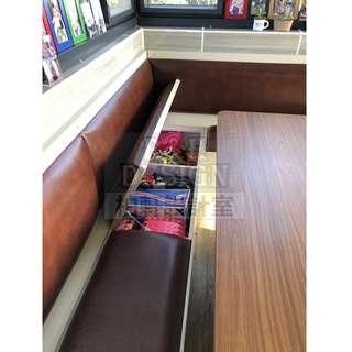 訂造儲物卡位 / 餐椅